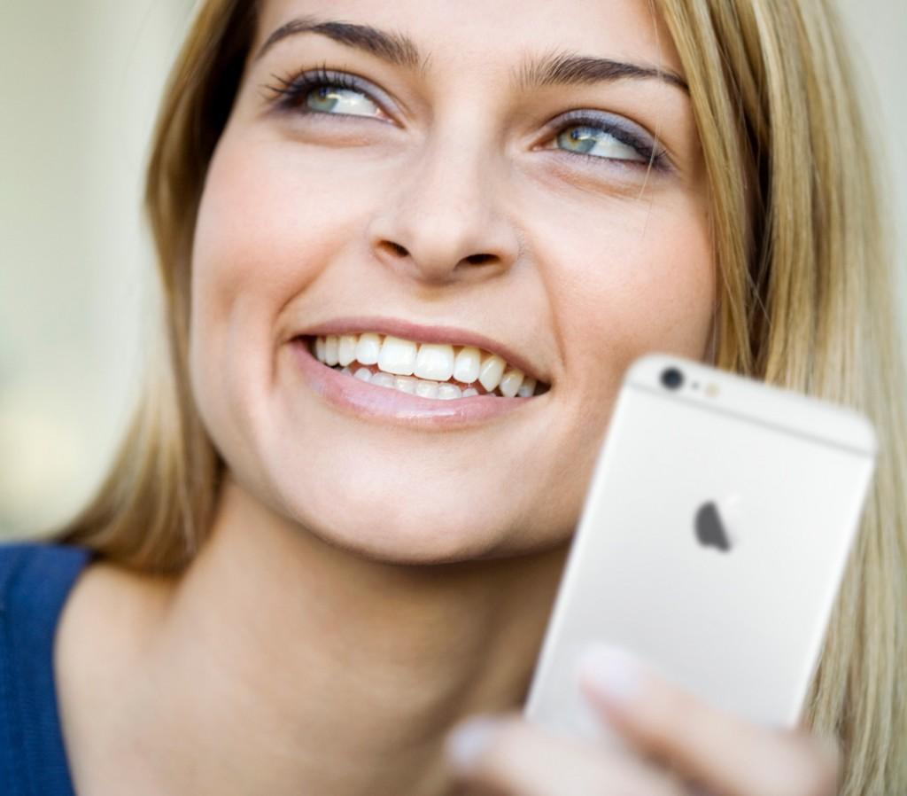kunde med iphone