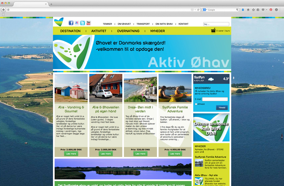 Aktiv Øhav website