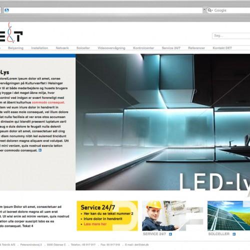Dansk El og Teknik webdesign