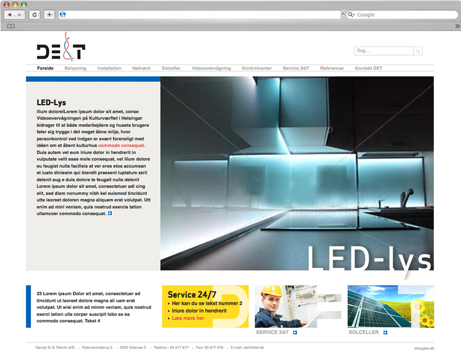Dansk El & Teknik website