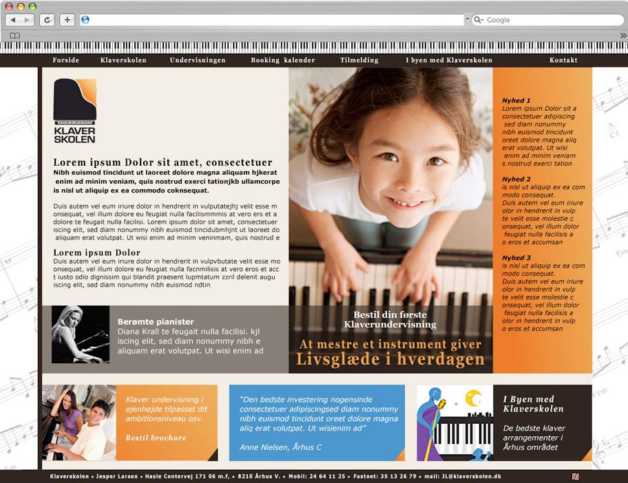 Klaverskolen website