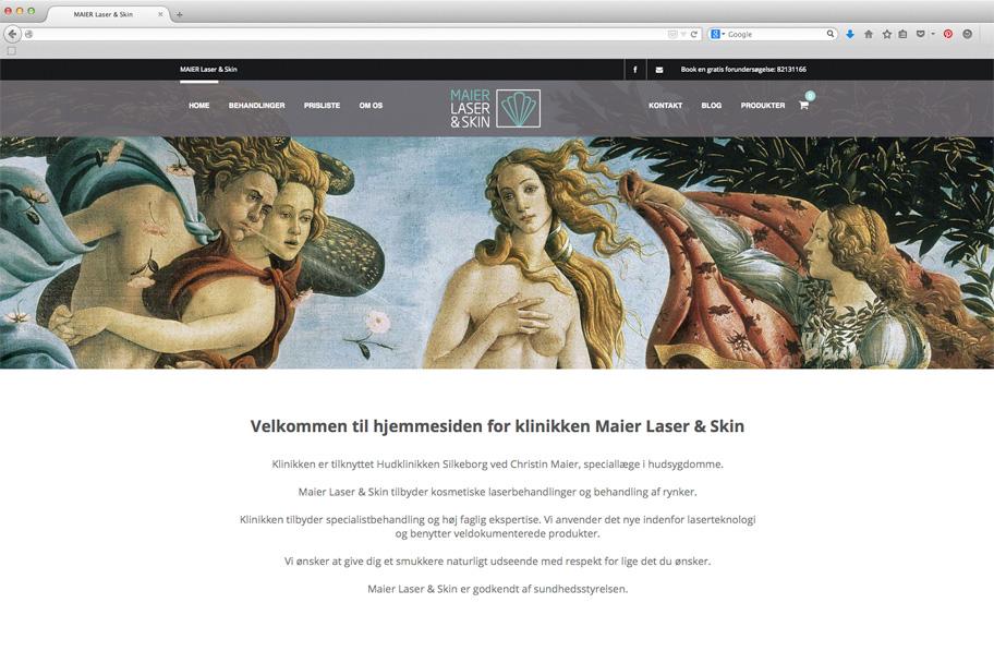 Maier Laser & Skin webdesign