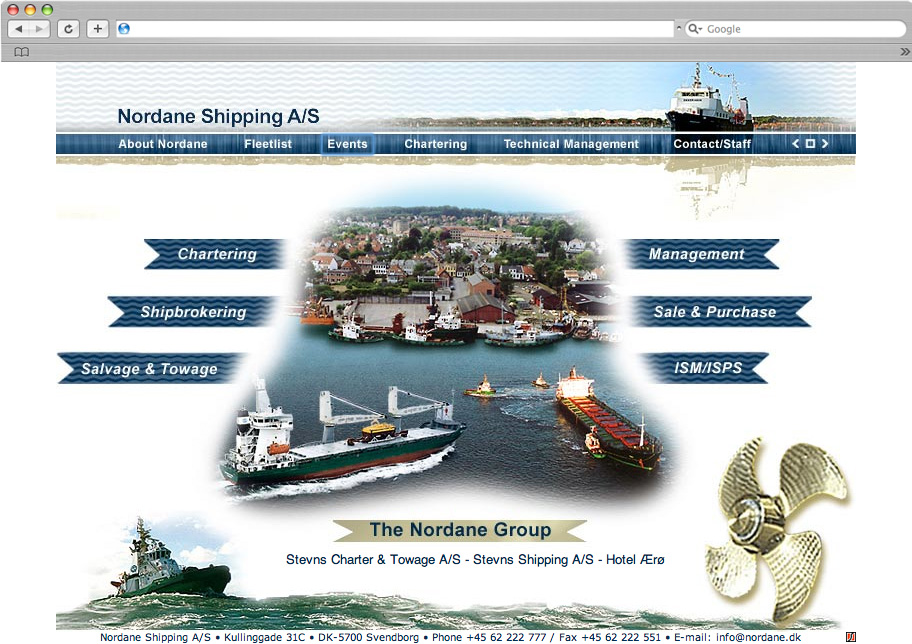Nordane Shipping website