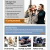 Nordea Finans nyhedsbrev designskabelon