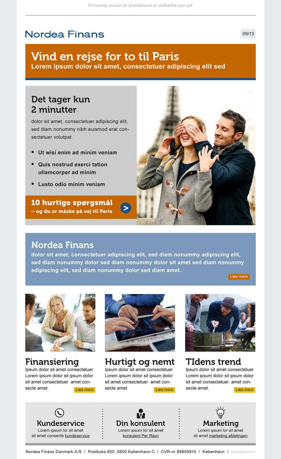 Nordea Finans nyhedsbrev