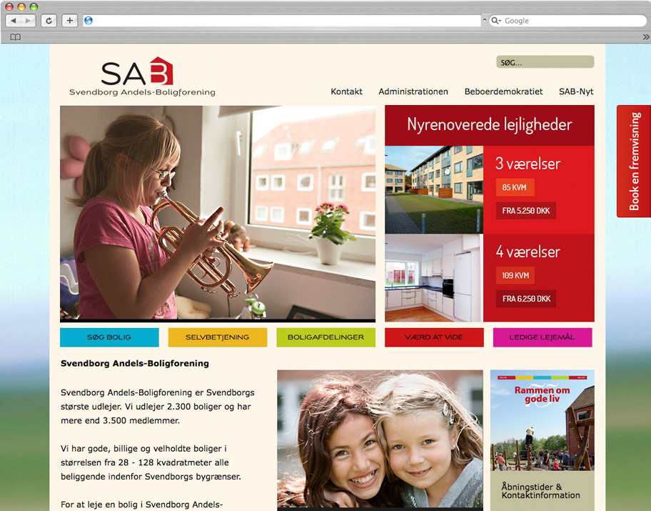 SAB website