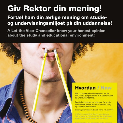 SDU Studiemiljø kampagne plakat