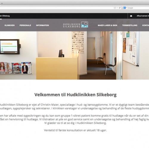 Hudklinikken Silkeborg webdesign